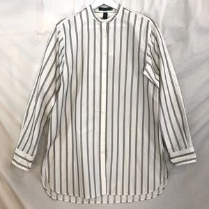 Lauren Ralph Lauren NWT Silk Striped Blouse Size M